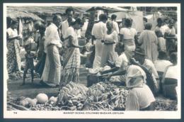Ceylon Ceylan Sri Lanka Photo COLOMBO Market Scene Bazaar - Sri Lanka (Ceylon)