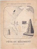 Militaria  Documents Fête Du Régiment Du 159 Brigade D'infanterie Alpine A Zuflucht (Allemagne ) 1947 Au PC Hitler - Documents