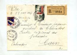 Lettre Recommandée Sarneville Sur Calais - Poststempel (Briefe)