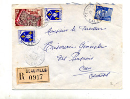 Lettre Recommandée Deauville Sur Tapisserie Gandon - Poststempel (Briefe)