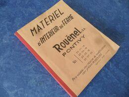 """(Monde Agricole.....) - MATERIEL D'INTERIEUR De FERME - Catalogue / Tarif De 1972 -  """" Sté. ROUËNEL à PONTIVY """" - Altri"""
