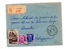Lettre Recommandée Gravelines Sur Caen Gandon - Poststempel (Briefe)