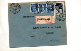 Lettre Recommandée Narbonne Sur Gandon Raz - Poststempel (Briefe)