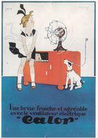 Une Brise Fraiche  Avec Le Ventilateur électrique CALOR - Werbepostkarten