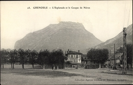 Cp Grenoble Isère, L'Esplanade Et Le Casque De Néron - Autres Communes