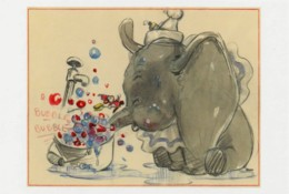 Postcard - The Art Of Disney, The Golden Age 1937-61 - Dumbo 1941 - Dumbo Blowing Bubbles, Story Sketch By Studio Artist - Non Classés