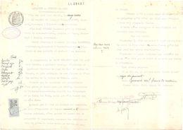 Dépt 77 - SAINT-GERMAIN-SOUS-DOUE - Dossier Justice Affaire Gustave LEDUC / Alphonse GASTEBLED - (1930) - Plan - Andere Gemeenten