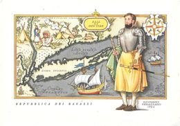 Giovanni Verazzano. Repubblica Dei Ragazzi. Non Viaggiata - Ansichtskarten