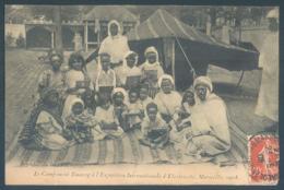 Le Campement Touareg à L'Exposition Internationale D'Electricité Marseille 1908 - Exposition D'Electricité Et Autres
