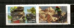 Enjoy Great Outdoors: Biking,canoeing. Forever Stamps Mint ** / Neufs ** Year 2020 - Neufs