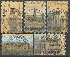 4175/4179 La Grand Place Bruxelles Oblit/gestp Centrale - Used Stamps