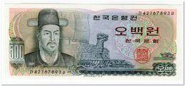 SOUTH KOREA,500 WON,1973,P.43,UNC - Korea, Zuid