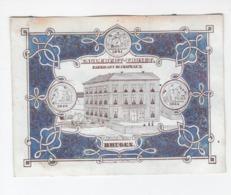 1 Carte Porcelaine  Fabricant De Chapeaux Englebert Thonet  Pont De Moulin Bruges 1841  Afm.14x11,5 Cm  Daveluy - Porcelana