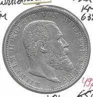 *wurttemberg 5 Mark 1902  Km 632   Vf+ - [ 1] …-1871 : Etats Allemands