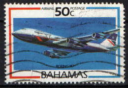 BAHAMAS - 1987 - BRITISH AIRWAYS - BOEING 747 - FRANCOBOLLO CON PIEGA - USATO - Bahamas (1973-...)