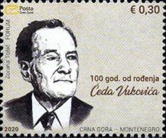 2020 The 100th Anniversary Of The Birth Of Čedo Vuković, Montenegro, MNH - Montenegro