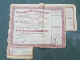 Fiscal (Fiscaux) - Obligations Réunies 4 1/2% De Chemins De Fer Russes - 500 Frs - Annulation SG Sur Quittance 10 C. - Ferrocarril & Tranvías