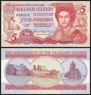 Falkland Islands - 5 Pounds 2005 P. 17a UNC Lemberg-Zp - Falkland Islands