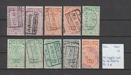 België 1941 - Spoorweg/Colis Postaux 10 Zegels Uit Yv. 236/44 - OCB TR236/44 Gest./obl./used - Railway