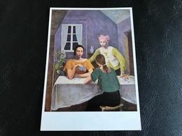 226 - KARL HOFER Karten Spielende Madchen - Peintures & Tableaux