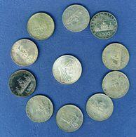 Lotto Per Appassionati Numismatici, 10 ESEMPLARI VARI ANNI - 500 LIRE ARGENTO + 1 1000 LIRE ROMA CAPITALE ANNO 1970 - Other