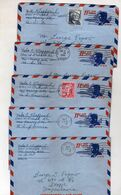 United States  ,lot - 5 Aerogramme - AIR MAIL Via Macedonia 1966/67/68 John F. Kennedy - 3a. 1961-… Oblitérés