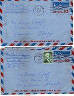 United States  ,Two Aerogramme - AIR MAIL Via Macedonia 1961 - 3a. 1961-… Oblitérés
