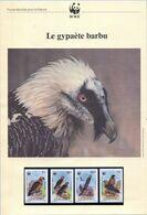 Document WWF - Lesotho (Maseru 1986) - Le Gypaète Barbu - (N° Yvert & Tellier 663 à 666) (Recto-Verso) - Lesotho (1966-...)