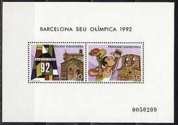 Andorra (Spanish), 1987, Olympics 1992, Block - Sommer 1992: Barcelone