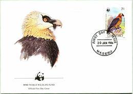 Enveloppe F.D.C. Du Lesotho (Maseru 1986) (WWF) - Le Gypaète Barbu - (N° Yvert & Tellier 663) - Lesotho (1966-...)