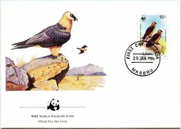 Enveloppe F.D.C. Du Lesotho (Maseru 1986) (WWF) - Le Gypaète Barbu - (N° Yvert & Tellier 664) - Lesotho (1966-...)