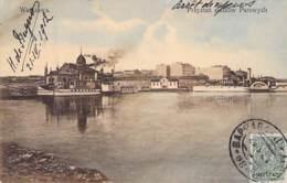 Warschau - Dampfschiffe Hafen Gel.1912 - Pologne