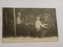 CARTE POSTALE METIER-DANS LA MINE-6-ABATTAGE AU PIC DU CHARBON ED BL ANIMEE - Mines