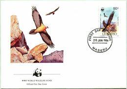 Enveloppe F.D.C. Du Lesotho (Maseru 1986) (WWF) - Le Gypaète Barbu - (N° Yvert & Tellier 665) - Lesotho (1966-...)
