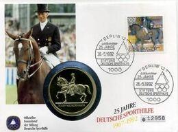 Germany, 1992, Barcelona Olympics, Medal + FDC Horses - Sommer 1992: Barcelone