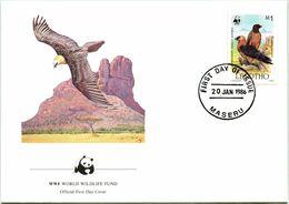 Enveloppe F.D.C. Du Lesotho (Maseru 1986) (WWF) - Le Gypaète Barbu - (N° Yvert & Tellier 666) - Lesotho (1966-...)