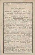 BP Crick Maria Elmyra (Aalst 1879 - 1893) - Alte Papiere