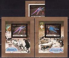 Comoros, 1990, Winter Olympics 1992, Foil, 1 Stamps + 2 Blocks Imperforated - Winter 1992: Albertville