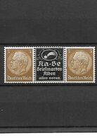 344-Allemagne III REICH-neuf ** Paire Hindenburg 3 P. Avec Vignette Publicitaire Au Centre - Deutschland