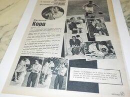 ANCIENNE   PUBLICITE PHOTOGRAPHIE AVEC RAYMOND KOPA 1959 - Other