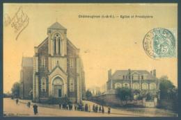 35 Chateaugiron Eglise Et Presbytère Carte Toilée - Châteaugiron