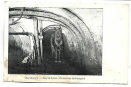 MINE - Charbonnage, Dans La Fosse :  Un Houveau De Transport - Mines