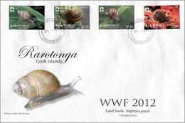 Rarotonga 2012, WWF, Snales, 4val In FDC - Tonga (1970-...)