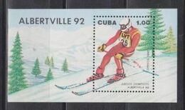 Cuba, 1990 Winter Olympic 1992 Block - Winter 1992: Albertville