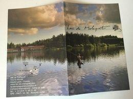 43. MONLET.  Lac De Malaguet. Pêche Et Hébergement - Reiseprospekte