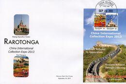 Rarotonga 2013, China PhilaExpo, Gauguin, Great Wall, BF In FDC - Modernos