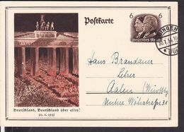 2 Ganzsachen Deutsches Reich 1934/1936 Stempel Gingen U. Villingen - Ganzsachen