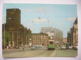 Poland: Poznan - Ulica Czerwonej Armii - Red Army Street - Traffic, Old Tramway - Car - Bus - Ca 1960s Unused - Polen