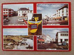 CP 85 CHALLANS  Capitale Du Canard Place Aristide Briand,place De Gaulle,le Marais,rue Carnot La Poste  ,voitures 1983 - Challans
