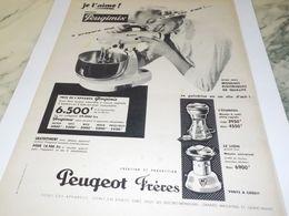 ANCIENNE  PUBLICITE JE L AIME PEUGIMIX DE PEUGEOT FRERE 1955 - Reclame